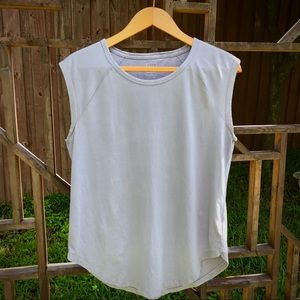 Gap   M   Vintage Wash   Gray Tee   Cap Sleeves